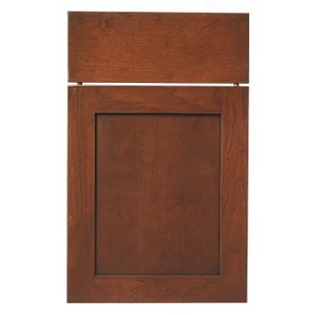 Bridgeport Recessed Panel Doors in their Matte Eclipse Maple Finish Image