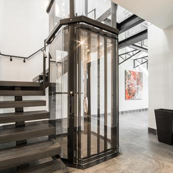Savaria Vuelift Octagonal Residential Elevator Image
